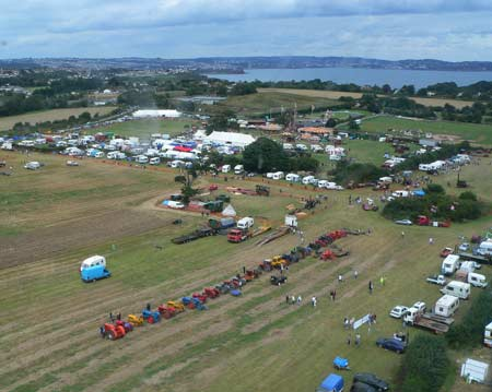 Churston steam rally from a helicopter