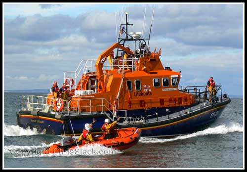 Severn Class Lifeboat with inshore boat