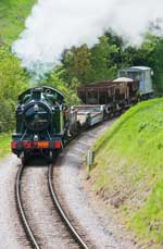 5239 Hauls the first freight train on the Paignton and Dartmouth Railway for ten years